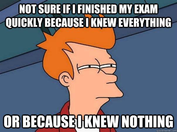 Exam Meme